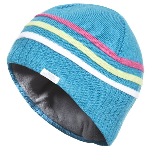 Radis Kids' Striped Beanie in Blue