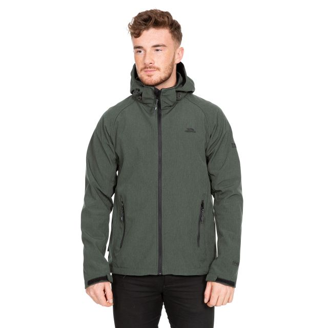 Rafi Men's Hooded Softshell Jacket in Green