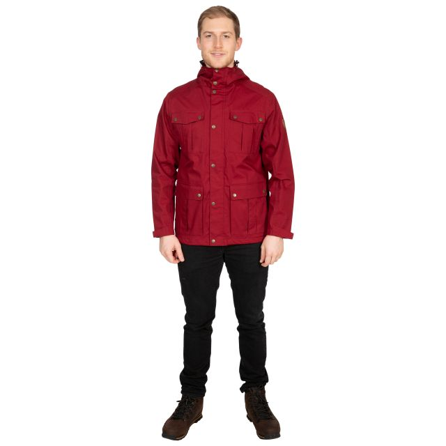 Raharra Men's Waterproof Jacket in Red
