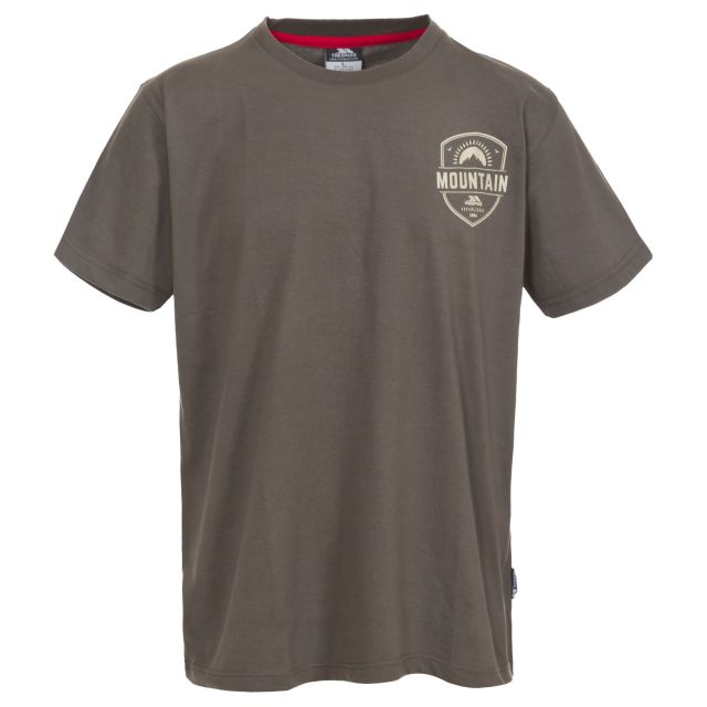 Rawhider Men's Printed Casual T-Shirt  in Khaki
