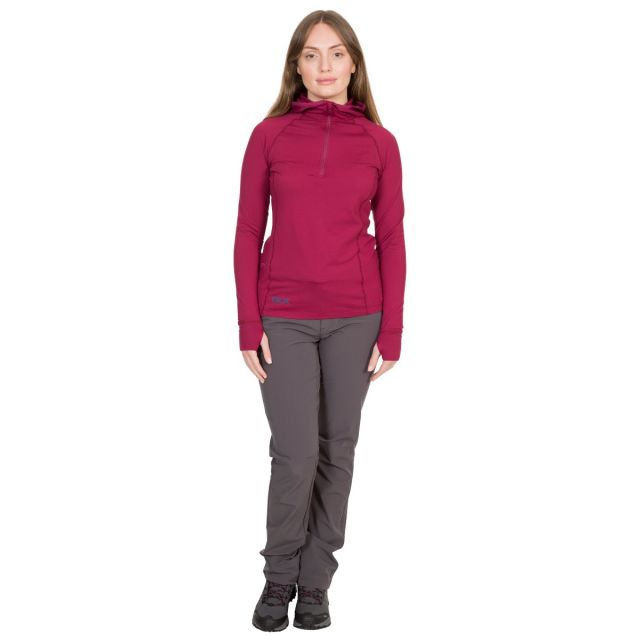 Rebecca Women's DLX Hooded Active Top in Red