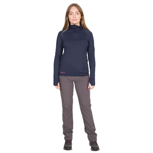 Rebecca Women's DLX Hooded Active Top in Navy