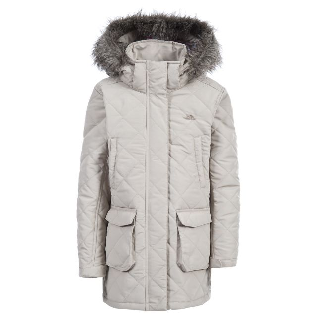Reep Girls' Quilted Casual Jacket in Beige