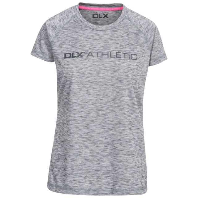 Relays Women's DLX Quick Dry Active T-shirt in Light Grey
