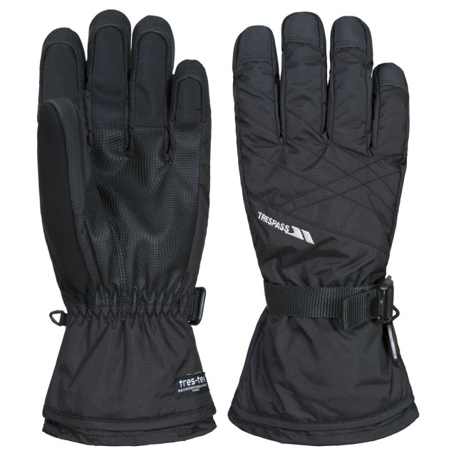 Reunited II Unisex Ski Gloves in Black