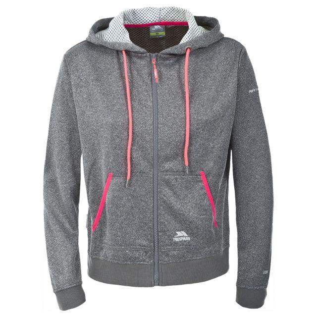 Revel Women's Full Zip Insulated Fleece Hoodie in Grey