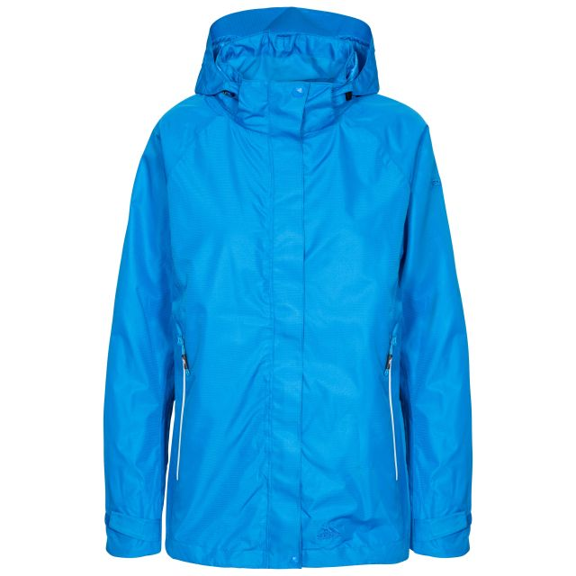 Review Women's Waterproof Jacket in Blue