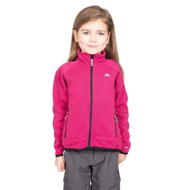 Rilla Kids' Full Zip Fleece Jacket in Pink