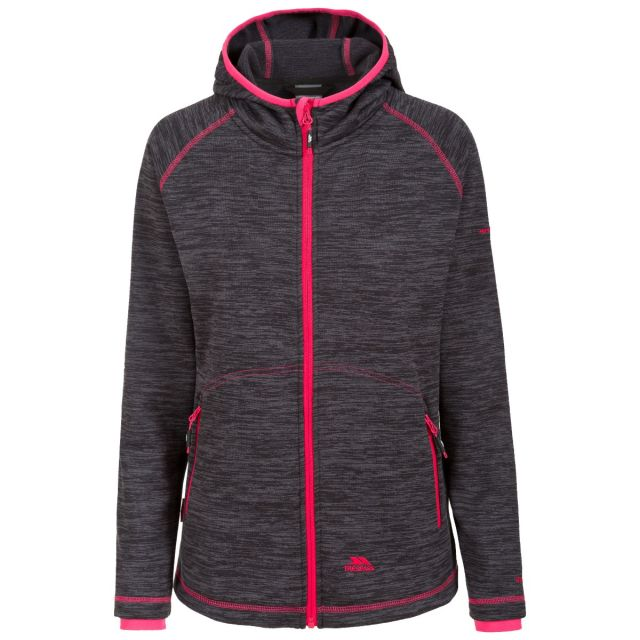 Riverstone Women's Full Zip Fleece Hoodie in Black