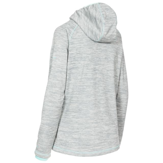 Riverstone Women's Full Zip Fleece Hoodie in Light Grey