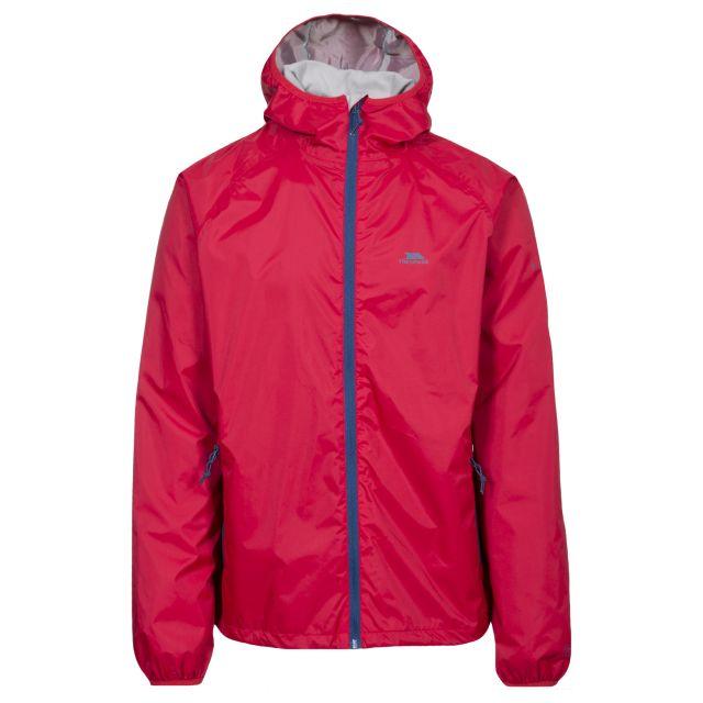 Rocco II Men's Waterproof Jacket in Red, Front view on mannequin
