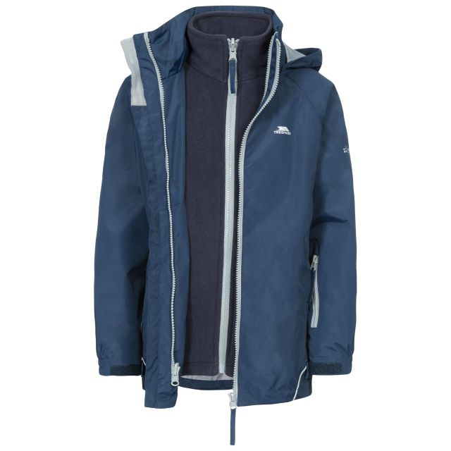 Rockcliff Kids' 3-in-1 Waterproof Jacket in Navy