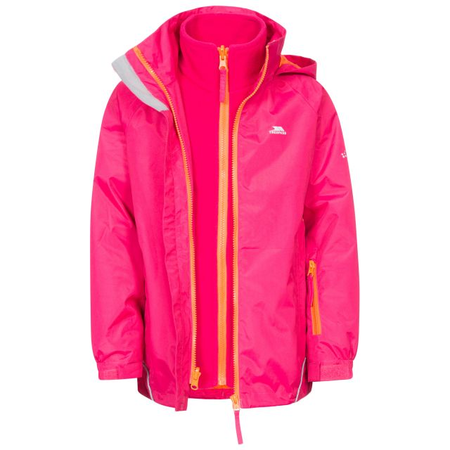 Rockcliff Kids' 3-in-1 Waterproof Jacket in Pink