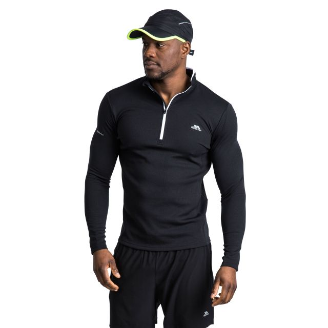 Ronson Men's Quick Dry Active Top in Black