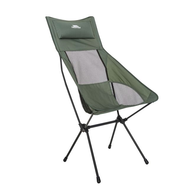 Trespass Tall Lightweight Camping Chair Roost in Khaki
