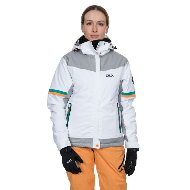 Rosan Women's DLX Waterproof Ski Jacket in White