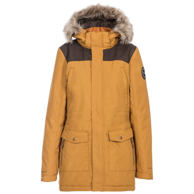 Rosario Women's DLX Waterproof Parka Jacket in Beige