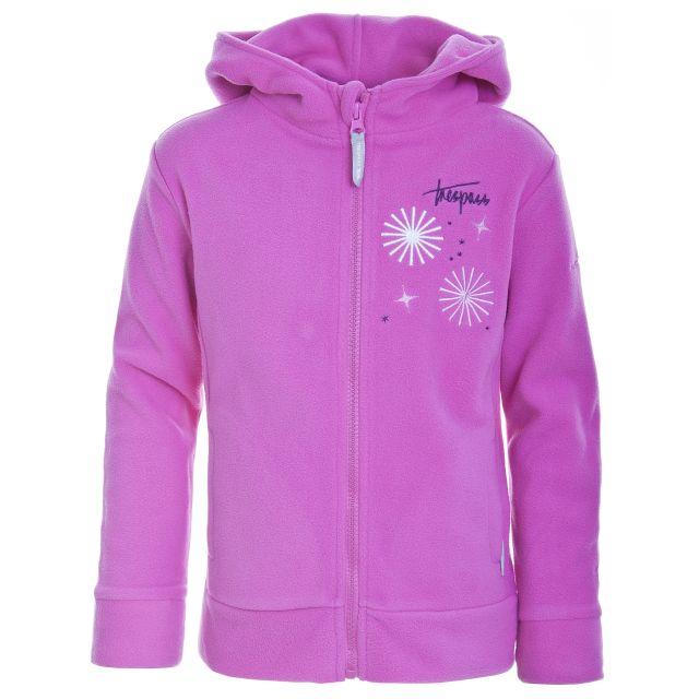 ROSEBUD Girls Full Zip Fleece Hoodie  in Pink