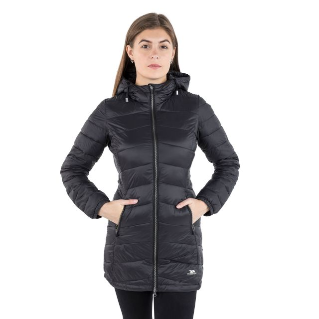 Ruin Women's Padded Casual Jacket in Black