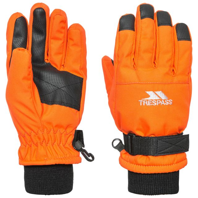 Ruri II Kids' Ski Gloves in Orange