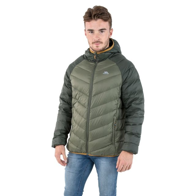 Rusler Men's Hooded Down Jacket  in Khaki