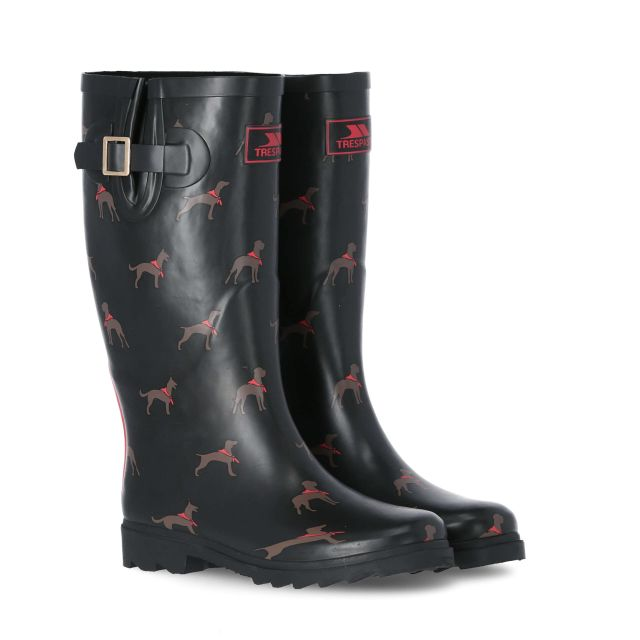 Samira Women's Printed Wellies in Black