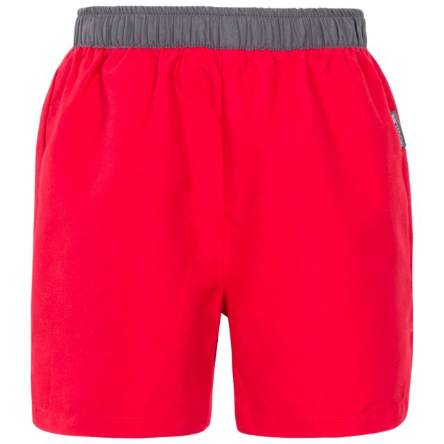 Sanded Kids' Swim Shorts in Red