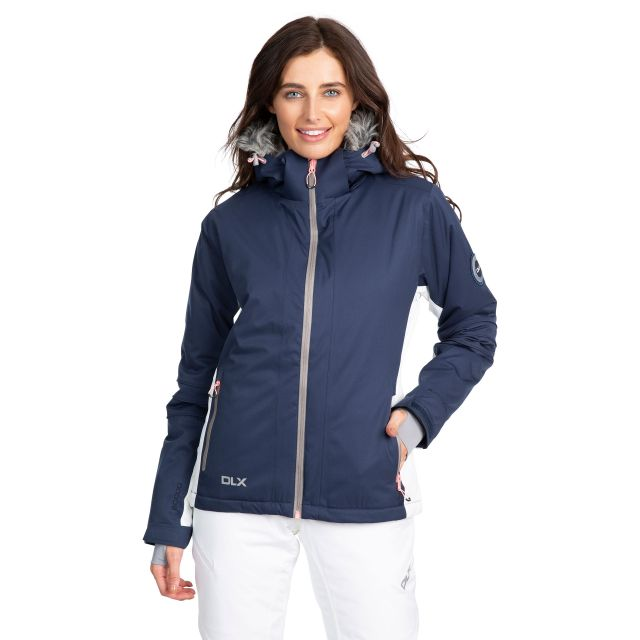 Sandrine Women's DLX Waterproof RECCO Ski Jacket in Navy