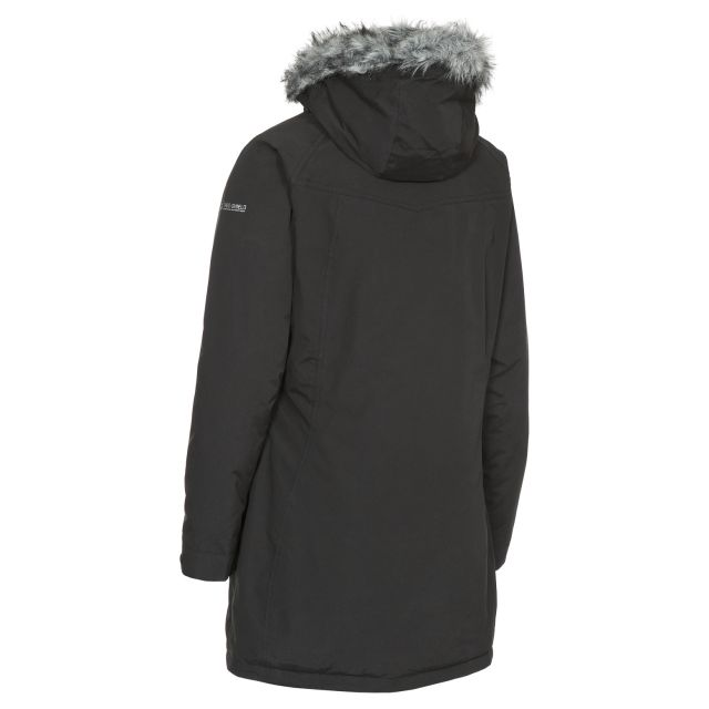 San Fran Women's Waterproof Parka Jacket in Black
