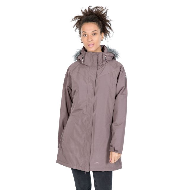 San Fran Women's Waterproof Parka Jacket in Light Purple