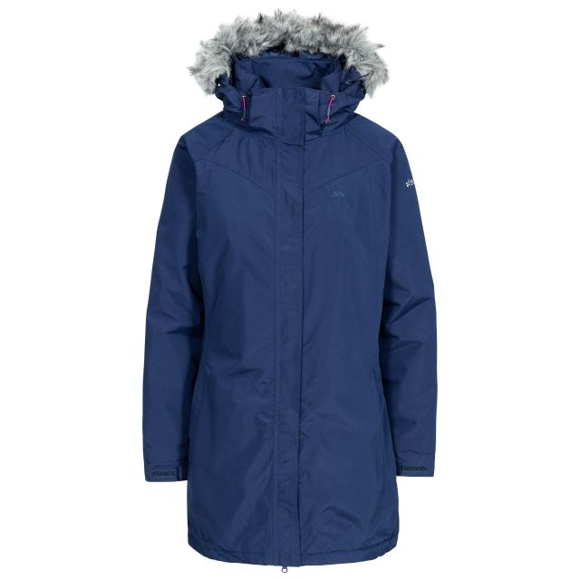 San Fran Women's Waterproof Parka Jacket in Navy