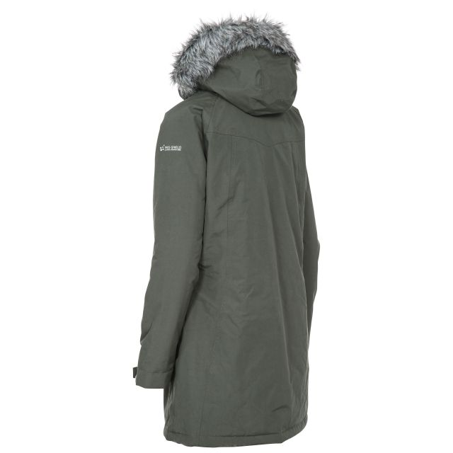 San Fran Women's Waterproof Parka Jacket in Khaki