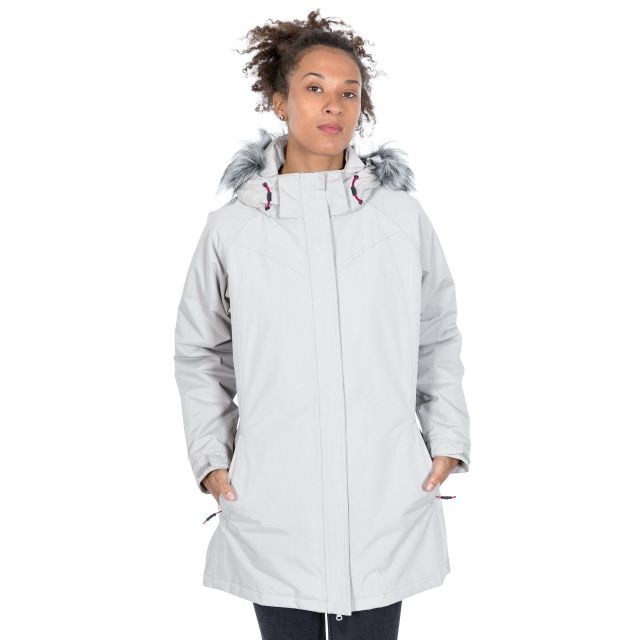San Fran Women's Waterproof Parka Jacket in Beige