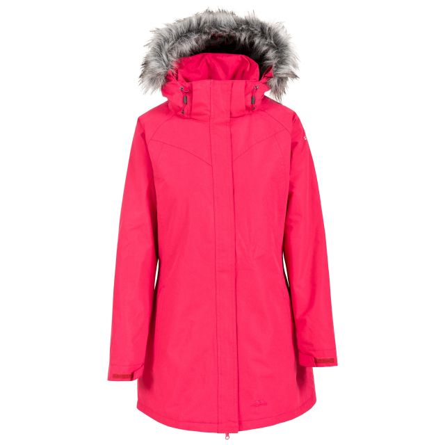 San Fran Women's Waterproof Parka Jacket in Pink