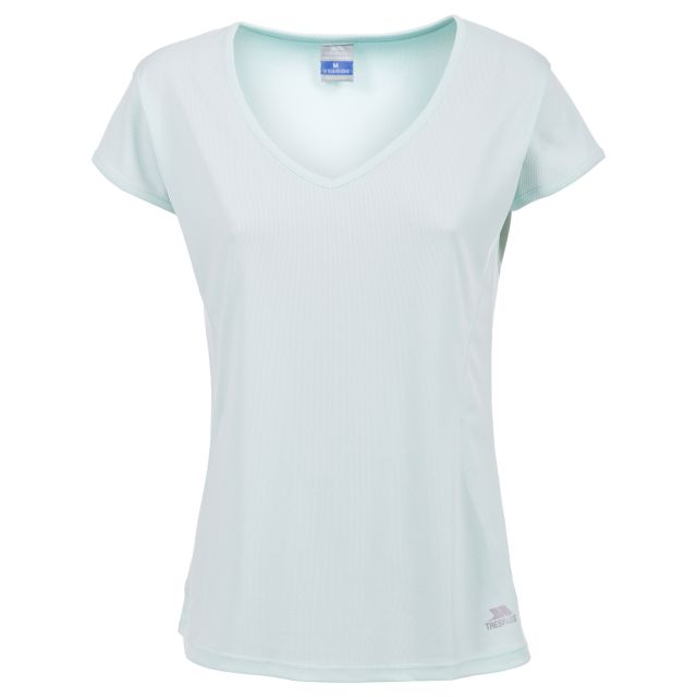 Sarris Women's Quick Drying Fitted Active T-Shirt in Light Green