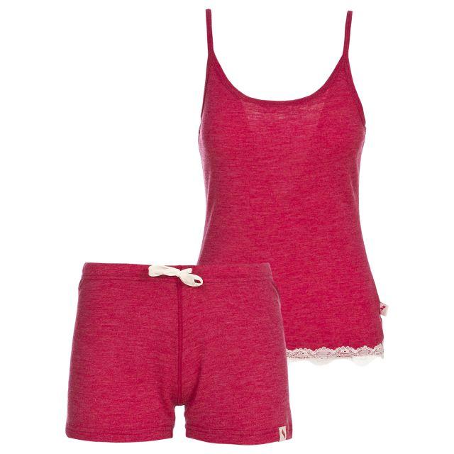 Sashay Women's Sleevless Thermal Set in Pink
