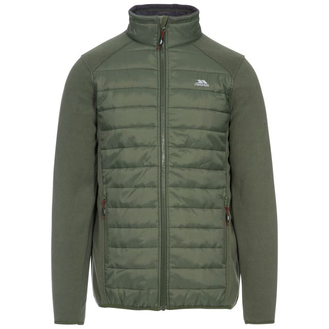 Saunter Men's Padded Fleece Jacket in Green