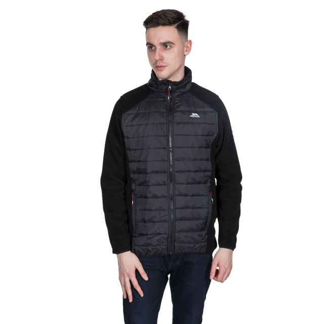 Saunter Men's Padded Fleece Jacket - BLK