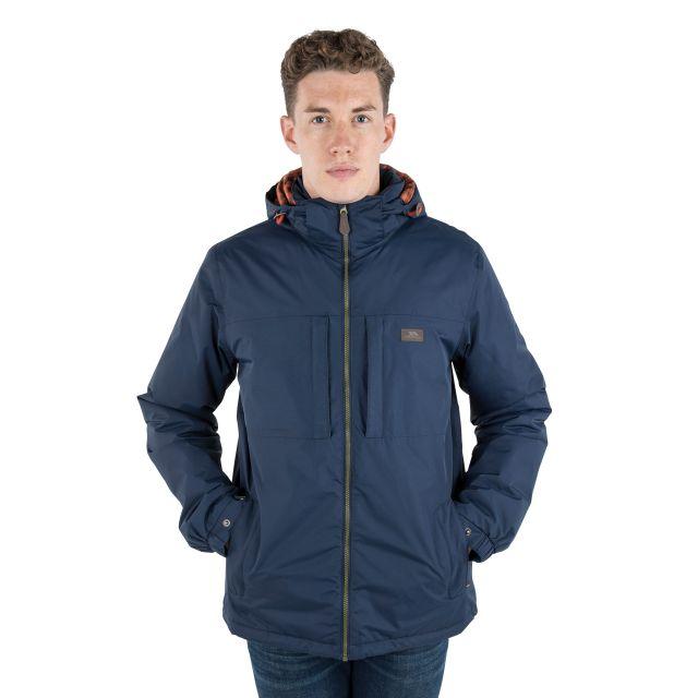 Savio Men's Insulated Windproof Waterproof Jacket in Navy