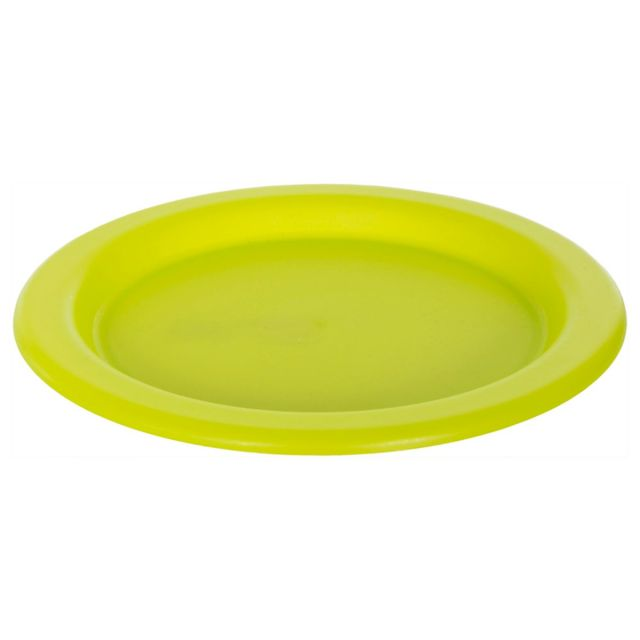 Plastic Plate in Neon Green