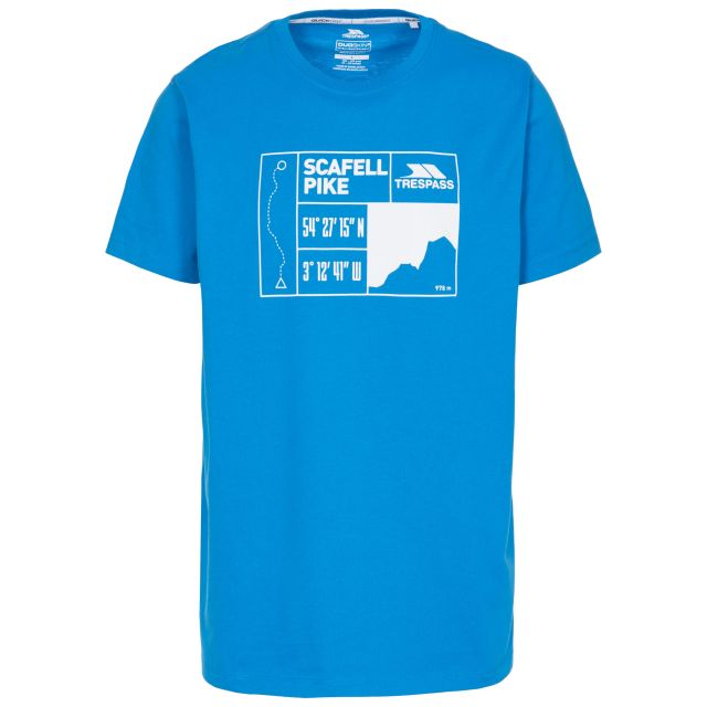 Scafel Men's Quick Dry Casual T-Shirt in Blue