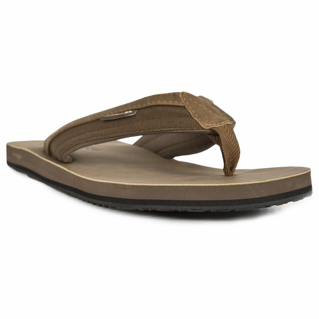 Scene Men's Flip Flops in Brown