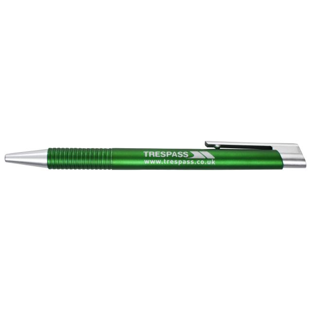 Black Ink Ballpoint Pen in Green