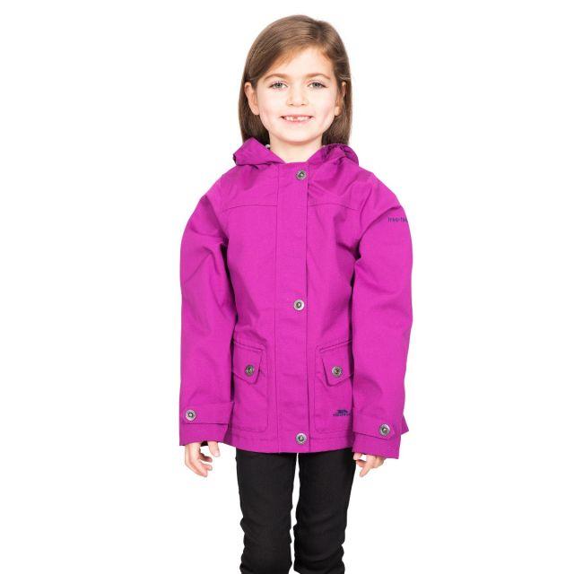 Trespass Kids Waterproof Jacket in Purple Seastream