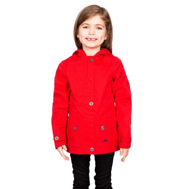 Trespass Kids Waterproof Jacket in Red Seastream