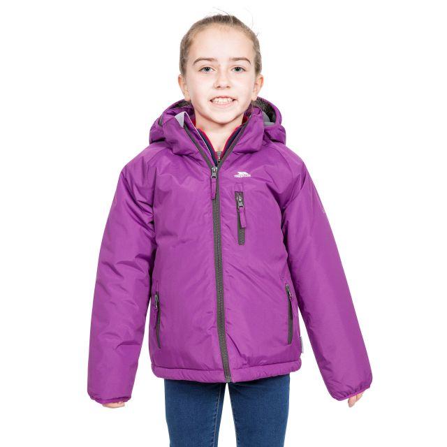 Shasta Girls' Padded Waterproof Jacket in Purple
