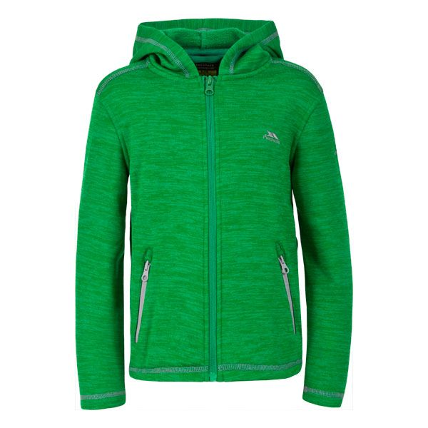 Shaw Kids' Full Zip Fleece Hoodie in Green