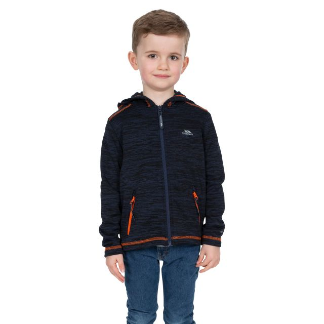 Shaw Kids' Full Zip Fleece Hoodie in Navy