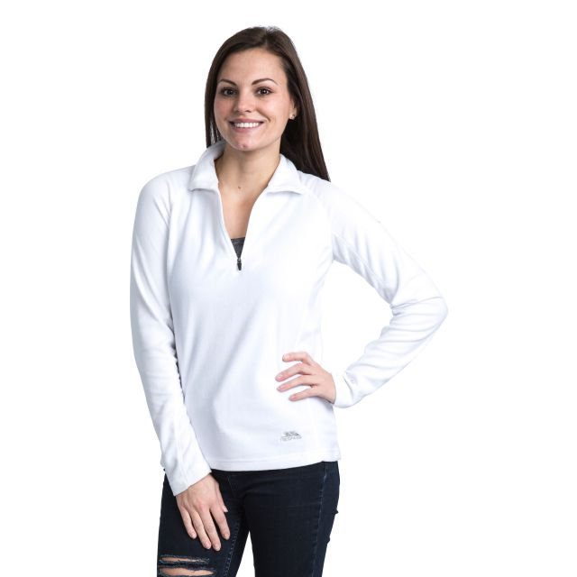 Shiner Women's Half Zip Microfleece - WHT