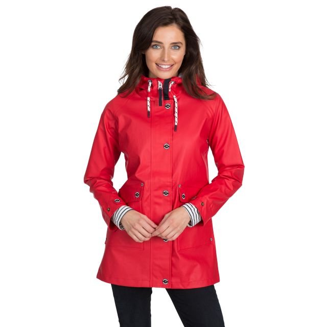 Shoreline Women's Waterproof Jacket in Red